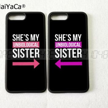 my sister BFF best friends foreve pair silicone softe phone case 743eaab83