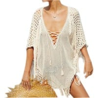 New Arrivals Sexy Beach Cover up Pink Crochet Robe de Plage Pareos for Women Swim Wear Saida de Praia Beachwear Coverups