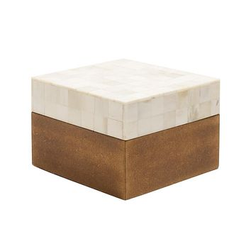 Natural Bone Inlay Box