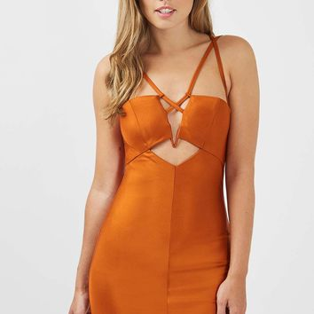 **Strappy Cut Out Mini Dress by Rare - Dresses - Clothing