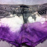 Studded Distressed Denim Shorts, Calvin Klein Jeans Size 14
