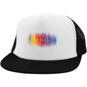 Gay Pride Trucker Hat LGBT Rainbow Pulse