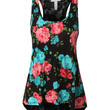 LE3NO Womens Lightweight Loose Floral Lace Back Racerback Tank top (CLEARANCE)