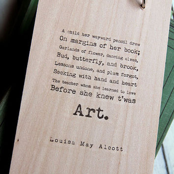 $20.00 Wood Notepad/Sketchbook  Words are things and a by quotesandnotes