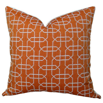 Plutus Ardmore Persimmon Handmade Throw Pillow