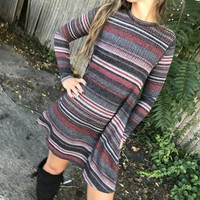 Merlot Stripe Dress