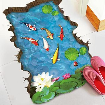 Carpets 3D Floor Tiles Flooring Waterproof Self - Adhesive Floor Painting Wallpaper Stickers