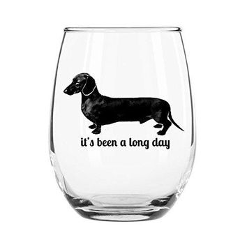 Its Been a Long Day Stemless Wine Glass Wiener Dog Present For Wife Friend Mom Sister Teacher BFF Gift