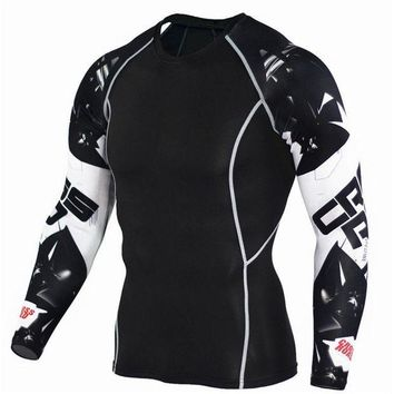 LMF78W 2017 Mens COCEDDB Fitness T Shirts Fashion 3D Teen Wolf Long Sleeve Compression T Shirts Bodybuilding Crossfit Brand Clothing