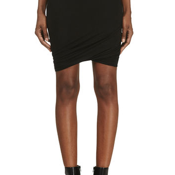 T By Alexander Wang Black Jersey Twist Skirt