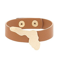 Bourbon & Boots Florida State Leather Bracelet