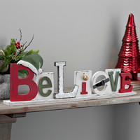 Believe Tabletop Wooden Plaque