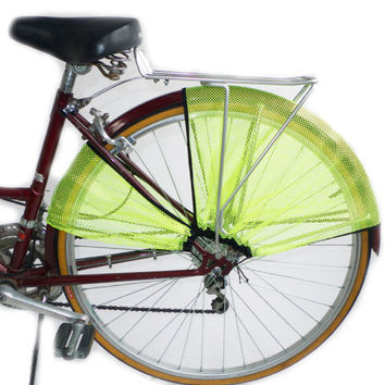 FrillRide Bicycle Skirt Guard in Fluorescent Green
