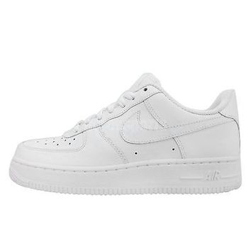 Wmns Nike Air Force 1 07 White Whiteout Womens Casual Shoes AF1 Sneakers dd1192d468