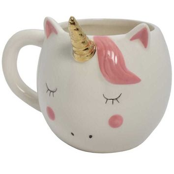 Pink Unicorn Ceramic Coffee Mug