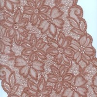 Stretch Galloon Lace Dusty Rose 9 inches wide