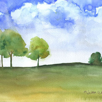 Landscape Original Watercolor Painting
