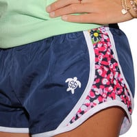 Simply Southern Jogger Shorts - Navy Dots