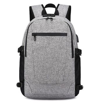 University College Backpack 2018 New USB Men's  15.6-inch Notebook   Students Urban  Multi-Function School AT_63_4