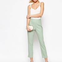 ASOS | ASOS Linen Crop Trousers at ASOS