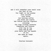 "Charles Bukowski Hand Typed Love Poetry ""Raw with Love"" Letterpress Print Vintage Typewriter Romantic Gift American Love Quote Typewriter"