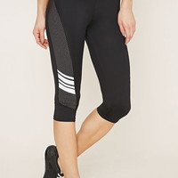 Active Mesh Capri Leggings | Forever 21 - 2000171096