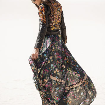 Gypsy Queen Castaway Skirt - Black Floral | Spell & the Gypsy Collective