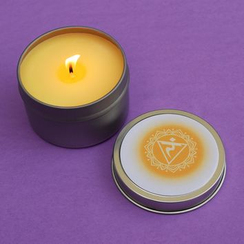 Solar Plexus Chakra Candle - Manipura - Take Back Your Power & Go After Your Goals