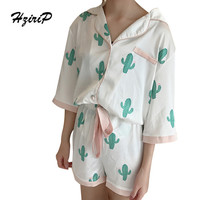 HziriP 2017 Summer Pajamas Women Fashion Printed Sleepwear Two Piece Casual Sets Short Shirt and Pant Ladies Set Suit for Home-in Pajama Sets from Women's Clothing & Accessories on Aliexpress.com | Alibaba Group