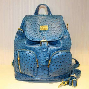 Sea blue ostrich backpack