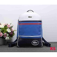 Lacoste Woman Men Fashion Casual Backpack Bookbag Shoulder Bag