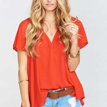 Avalon Top ~ Red Hot Chili Pepper Cloud