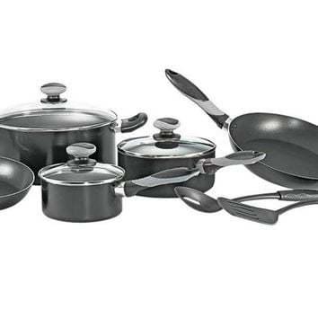 Mirro A797SA64 Cookware Set, Black, 10 Piece
