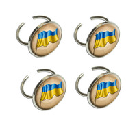 Vintage Ukrainian Flag - Ukraine Napkin Ring Set