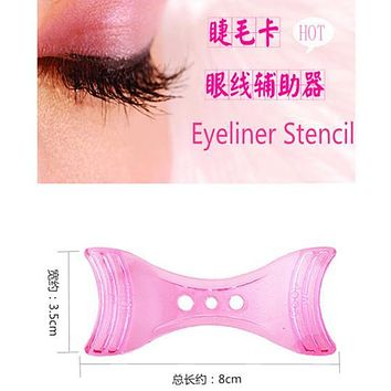 1 pc Perfect Cat Eye & Smokey Eye Makeup Eyeliner Models Template Eyeliner Card Auxiliary Tools Eyebrows Stencils for Eye