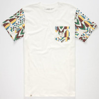 Lira Tribal Mens Pocket Tee White  In Sizes