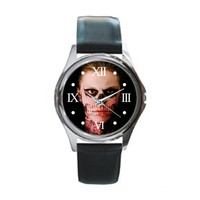 Tate Langdon Kit Walker American Horror Story Black Leather Watch Wristwatch Unisex