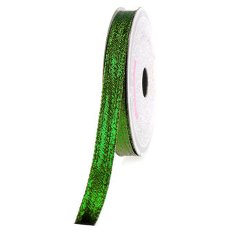 Solid Metallic Wired Ribbon, 3/8-inch, 10-yard, Emerald Green