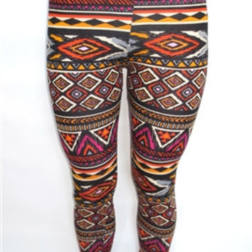 Multicolor Tribal Leggings
