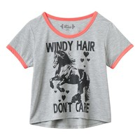 Mudd Crop Ringer Tee - Girls 6-16 & Girls' Plus, Size: