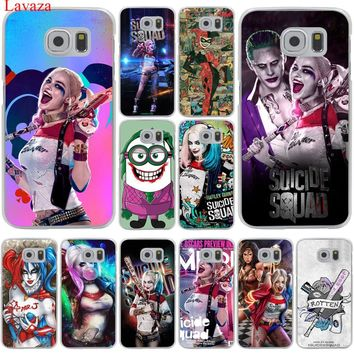 Lavaza Harley Quinn Suicide Squad Joker Hard Transparent Phone Case for Samsung Galaxy S8 S9 Plus S3 S4 S5 S6 S7 Edge Cover