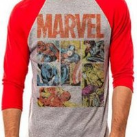 Marvel Baseball Jersey Shirt - Heroes Panel