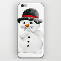 Snowman iPhone Skin by Knm Designs