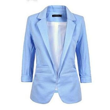 Blazer Feminino Formal Jacket Women's White Blaser Rosa Female Blue Women Suit Office Ladies