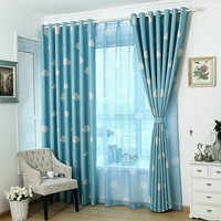 Eco-friendly Curtains for Kids  Cartoon Curtains for Children's Bed Room Sheer Curtains Blackout Curtains Yellow Blue Pink