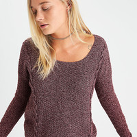 AEO Cross Stitch Sweater, Burgundy
