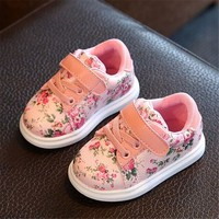 Cute Baby Shoes For Girls Soft Moccasins Shoe 2017 Autumn Pink Flower Baby Girl Sneakers Toddler Girl Newborn Shoes First Walkes
