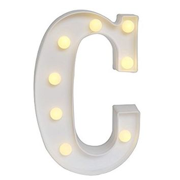 DELICORE LED Marquee Letter Lights Alphabet Light Up Sign for Wedding Home Party Bar Decoration C