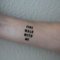 Twin Peaks Temporary Tattoo Pair