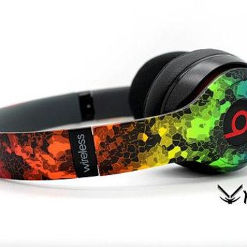 Custom Rainbow Hex Beats By Dre Headphones - Bluetooth Studio Headset - Customizable Beats Gift for him - Studio 1.0 Studio 2.0